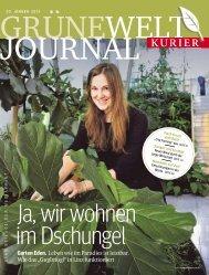 Grüne Welt Journal vom 20. Jänner 2013 - Kurieranzeigen