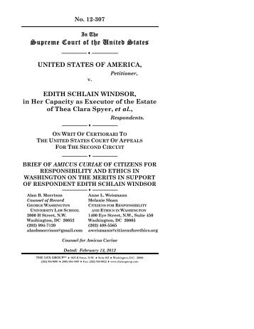 Read CREW's friend-of-the-court brief - CREW | Citizens for ...