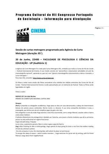 CINEMA - Associação Portuguesa de Sociologia