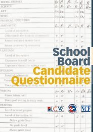 School Board Candidate Questionnaire - US Chamber of Commerce