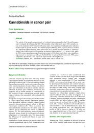 Cannabinoids in cancer pain - International Association for ...