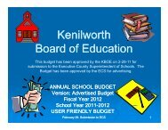 Advertised FY '12 Budget (pdf) - Kenilworth School