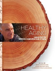 Lessons from the Baltimore Longitudinal Study of Aging - National ...