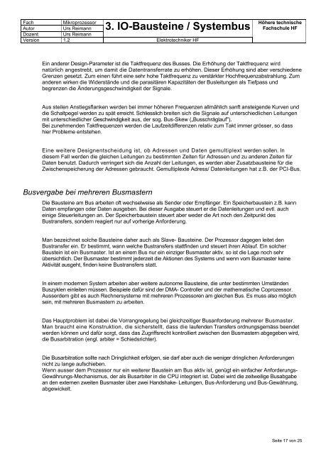 3. IO-Bausteine / Systembus - Reimann Online