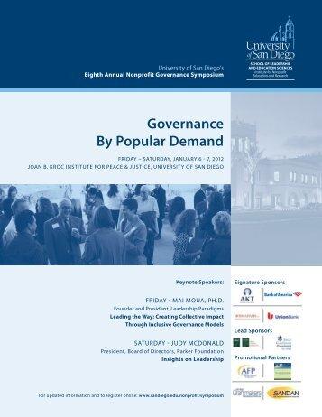 Governance By Popular Demand - San Diego Union-Tribune