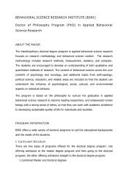 (PhD) in Applied Behavioral Science Research