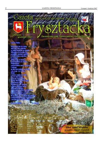 Listopad - Grudzień 2007 - gazeta.frysztak.pl - Gmina Frysztak