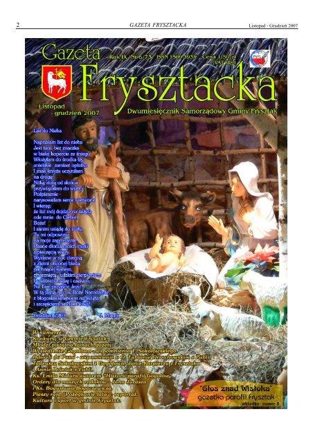 Listopad Grudzień 2007 Gazetafrysztakpl Gmina Frysztak