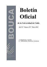 BOUCA Nº 155 - Universidad de Cádiz