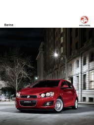 HOLDEN Barina 3 Doors Brochure - AutoEvolution