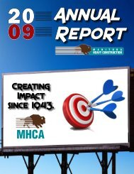 2009 Annual Report - Manitoba Heavy Construction Association
