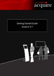 Getting Started Guide - Acquire 3.7