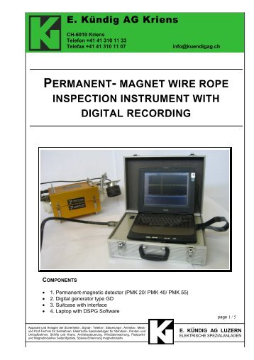 NDT WIRE ROPE INSPECTION - Marine Safety Forum