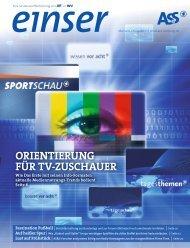 ORIENTIERUNG FÜR TV-ZUSCHAUER - W&V