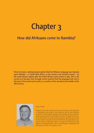 3. How did Afrikaans come to Namibia? - Namibianederland.net