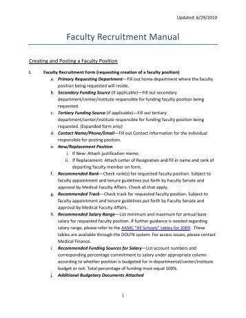 Faculty Recruitment Manual - Faculty Affairs - University of Miami