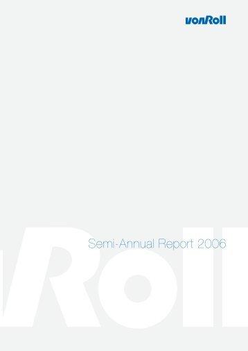 Semi-Annual Report 2006 - Von Roll