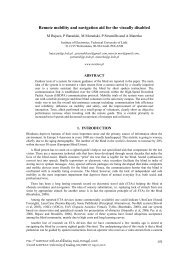 Remote mobility and navigation aid for the visually ... - ResearchGate