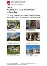Vier Klöster und zwei Wallfahrtsorte (4-Tages-Tour)