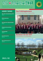 VS Magazin Ausgabe 2 2013 - VS Bürgerhilfe gemeinnützige GmbH