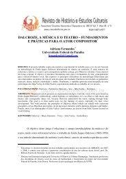 dalcroze, a música eo teatro - Revista de História e Estudos Culturais