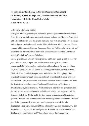 11. Schlesischer Kirchentag in Görlitz (Jauernick-Buschbach) 15 ...