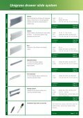 Unigrass drawer slide system - Page 4