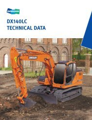 dx140lc technical data - Doosan Infracore Construction Equipment