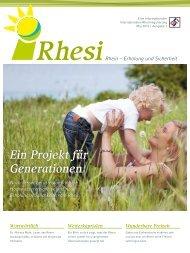 Rhesi Magazin, Ausgabe 1 (Mai 2012)