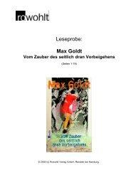 Leseprobe: Max Goldt - Fuxx