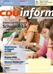 Klares Lob für unsere Schulpolitik - CDU Rheinisch-Bergischer Kreis