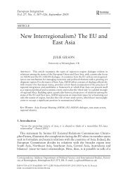 New Interregionalism? The EU and East Asia