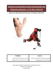 Udredning og behandling af elite ishockeyspiller med tiltagende ...