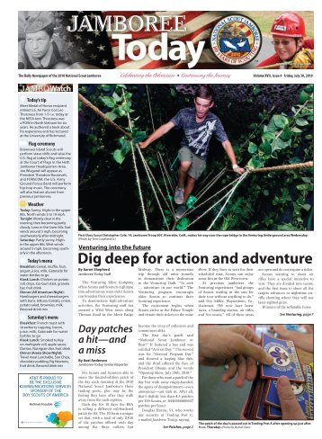 Dig deep for action and adventure - Boy Scouts of America
