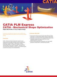 CATIA - Mechanical Shape Optimization - NobleTek