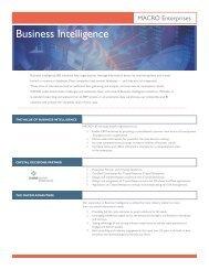 Business Intelligence Process - MACRO Enterprises