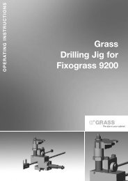 drilling jig for fixograss 9200