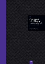 Corporate Brochure - Camper & Nicholsons