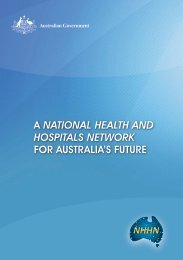 A NatioNal HEaltH aND HoSPitalS NEtWoRK FOR AUSTRALIA'S ...