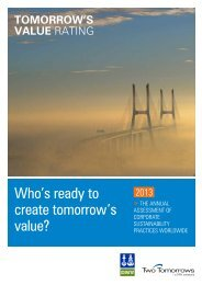 Who's ready to create tomorrow's value? - DNV Business Assurance