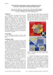 high-speed air microjet arrays produced using acoustic streaming ...