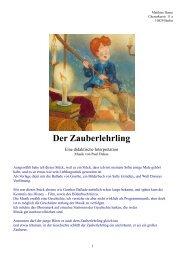 Der Zauberlehrling - Matthias Haase Oboist