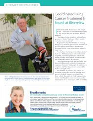 Read Mark's Story - Riverview Medical Center