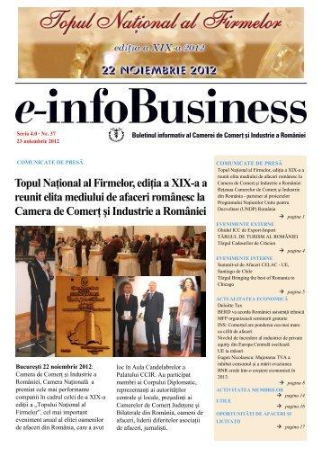 e-infoBusiness nr. 37/23.11.2012 - Camera de Comert si Industrie a ...
