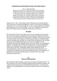 Grundordnung der hmt Rostock in der Fassung vom 24. April 2013