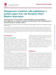 Management of patients with palpitations: a position paper from the ...