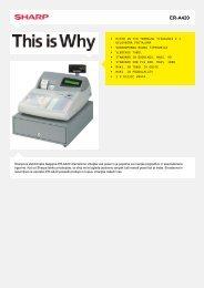 ER-A420-Cash Register Alpha numeric systems - Sharp Electronics