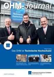 OHM-Journal - Georg-Simon-Ohm-Hochschule Nürnberg