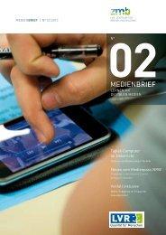 Link zum Download der aktuellen Ausgabe Medienbrief (PDF, 2607 ...