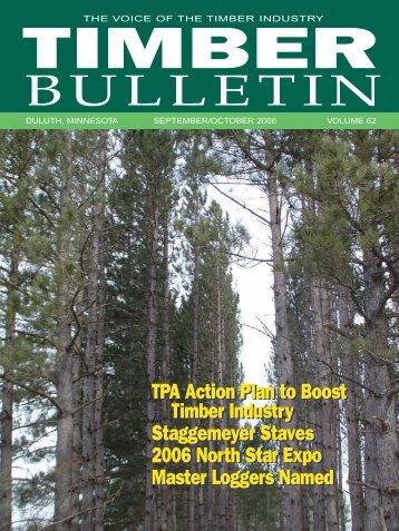 Timber Bulletin Sep/Oct - Minnesota Forest Industries
